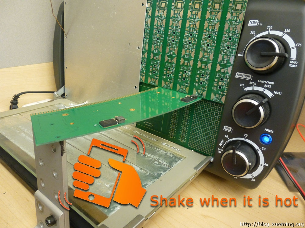 锡膏加热到熔化的时候甩一下电路板