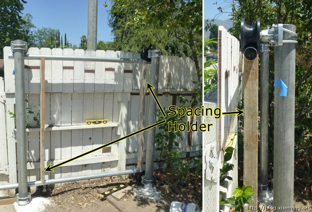 两根竖直木料撑起零时门框